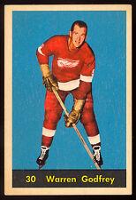 1960 61 PARKHURST HOCKEY #30 WARREN GODFREY EX+ cond DETROIT RED WINGS Card
