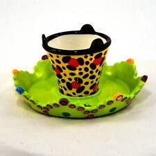 Appletree Design Cakestand & Chip Dip fun Party dishes mod with mid century look