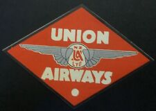 Mint Air Baggage Label Tag Union Airways Of New Zealand