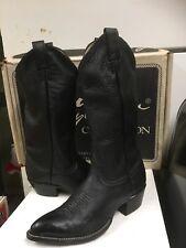 Larry Mahan Men's Boot  Black Elk Skin 2732 Size 7.5 D NEW