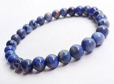 Sodalite Blue Gemstone 8mm Natural Stone Healing Elastic Stretch Bead Bracelet