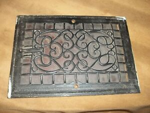 Vintage Victorian Vent  Cast Iron  with flipper  Heavy  4 lbs  black