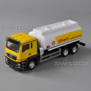 1:64 Diecast Metal Man TGS 18.400 Tank Truck Model Shell Oil Tanker Replica Hot