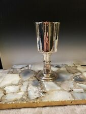 """Monumental Coin Silver Handmade Goblet Tested For Silver Huge 9.2"""" Tall"""