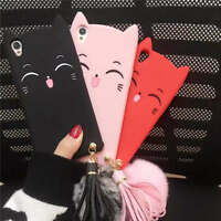 Cute Glass Cover Cat Case For Oppo R9s R11 R9 R11S Plus A59 F3 A77 Silicone Skin