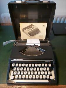 Silver Reed Silverette typewriter instructions, carrycase, hardly used ribbon ok