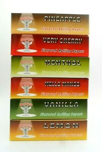 6 X Hornet King Size Slim Flavoured Rolling Papers Packs King size Booklets Mix