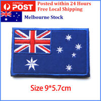 Australian Flag Patch, Iron On, Sew On, Stitch On, Aussie Flag Badges 9 x 5.7cm