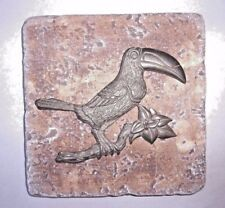 Toucan tile mold plaster cement bird  travertine casting mould