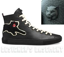 GUCCI 10G black leather PANTHER Angry Cat MAJOR high top Sneakers NIB Auth $695!