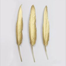 Smart DIY 10 pieces latest golden geese/duck feathers 10-15cm/4-6 inch feathers