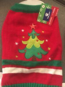 NWT Top Paw Medium Dog Holiday Vest with Light Up Xmas Tree Star 5 - CUTE!