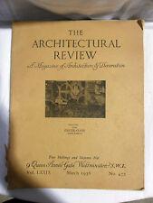 THE ARCHITECTURAL REVIEW Vol. 79 March 1936 No. 472 Rivista Architettura