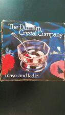 VINTAGE Durham Crystal Company Mayo & Ladle ref 319 Made in England Lead Crystal