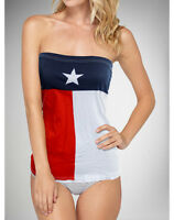 Texas State Flag T-Shirt Womens Tube Top Bikini Cover Up S-XL