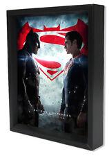 BATMAN V SUPERMAN- FACETOFACE 8x10 3D SHADOWBOX DC COMICS SUPERHERO AFFLECK FILM