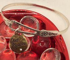 "charm ""Just Breath� Brighton silver bracelet with"