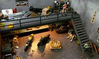 DIY 1:64 Car Model Diorama Parking Scenery Double Deck Garage USB Display New