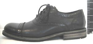 Steve Madden Size 11.5 Black Leather Oxfords New Mens Shoes