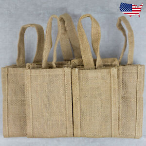 5 Pack Jute Wine Bottle Bag - Design your own-Gift Bag With Handle 750ml bottle