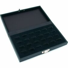 24 Ring Jewelry Display Tray Case Wide Slot Storage Box New 8 34 X 5 38