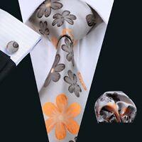 SN-1016 Mens 100% Silk Jacquard Woven Neckties Tie+Hanky+Cufflinks Sets Free P&P
