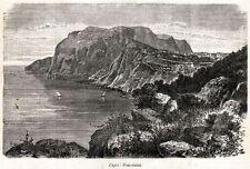 CAPRI: Panorama. Golfo di Napoli. Campania Felix.Capolavoro. + Passepartout.1901