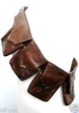 Cuir steampunk bandolier 4-pouch sac ceinture entièrement réglable