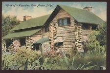 Postcard EAST AURORA New York/NY  2 Story Log Cabin Roycrofter House/Home 1907?