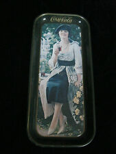 VINTAGE COCA COLA  TRAY - LADY HOLDING A GLASS WITH COKE - DRINK COCA COLA