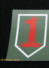 2 TWO 1ST INFANTRY DIVISION US ARMY BUMPER STICKER ZAP USA OFFICE ENLISTED WOW