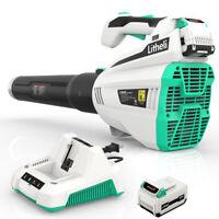 LitheLi 40V Cordless Brushless Leaf Blower w/ 2.5AH Battery *2& Charger 480CFM