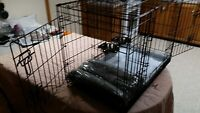 Potty Training CAGE For Dog with 2 doors / Divider/Crate Heavy Duty/Small Dogs