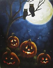 LED Pumpkin / Owls Wall Decor