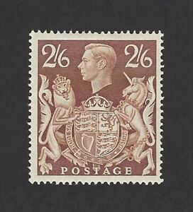 GB 1939 2/6 brown high value MH MM £85