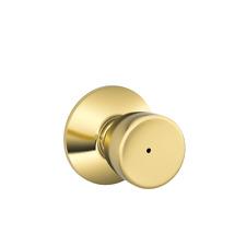 Schlage Lot of 20 Privacy F40-BEL-605 Knob Set Bright Brass Bell Design New