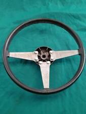 MGB Midget Black Leather 15.5 Inch Steering Wheel for Restoration