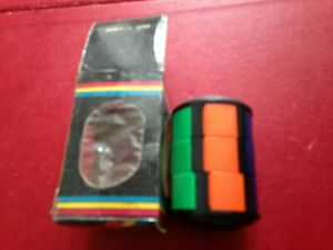 VINTAGE 1980s BARREL TWIST MAGIC PUZZLE, CYLINDER RUBIK'S WITH SLIDING TILES