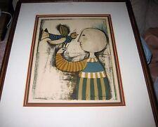 "graciela rodo boulanger signed lithograph titled ""Les Oiseaux"" (The Birds)"