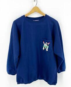 Disney Designs Boys Sweatshirt Size L/XL (14/16) Navy Blue Pocket Sailor Mickey