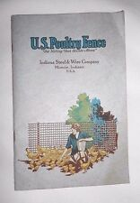 Vtg 1931 U.S. Poultry Fence Catalog Indiana Steel and Wire Co Farm House Gates