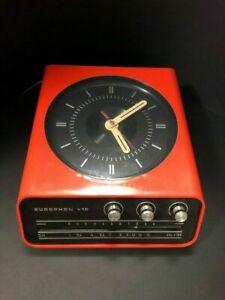 1970s ITALIAN Space Age Modern EUROPHON H10 Radio Clock - TABLE OR WALL MOUNT