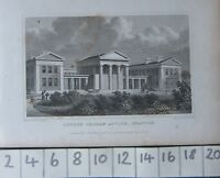 1828 Antiguo Estampado ~ Londres Orphan Asylum