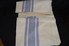"""Kiss That Frog 100% Organic Cotton Natural & Blue 60"""" X 100"""" Tablecloth India"""