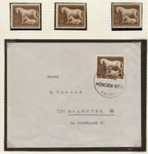 1944 Cover Brown Ribbon Horse Race with Day of Race cancellations & loose stamps