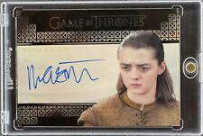 GAME OF THRONES TRADING CARD MAISIE WILLIAMS AS ARYA STARK LIMITED AUTO [LS]