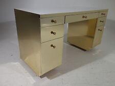 Vintage Brass Clad Desk Mid Century Modern Ello Gabriella Crespi Era