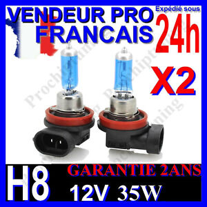 X2 AMPOULES XENON H8 35W LAMPE POUR VOITURE FEU SUPER WHITE PHARE 12V PLASMA