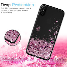 For iPhone X / 8 7 Slim Cute Glitter Liquid Quicksand Clear Soft TPU Case Cover