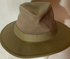 dbd530db40380 Original Panama Jack Safari Hat Mesh Top Khaki Wide Brim USA Size LARGE